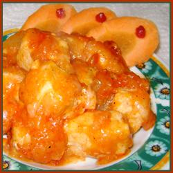 курица с ананасами и имбирем