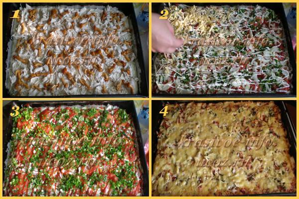 Пицца с курицей игрибами рецепт с